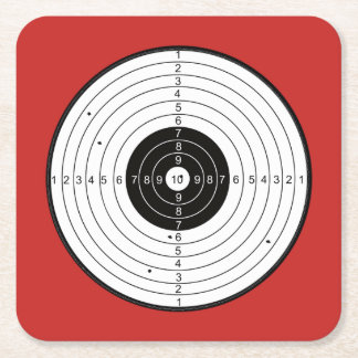 Bullseye Circle Red - Square Coaster