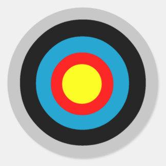 Bullseye Classic Round Sticker