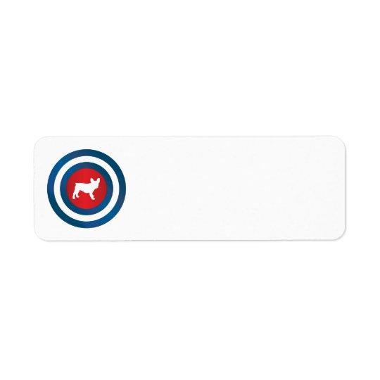 Bullseye Frenchie (b) Return Address Label