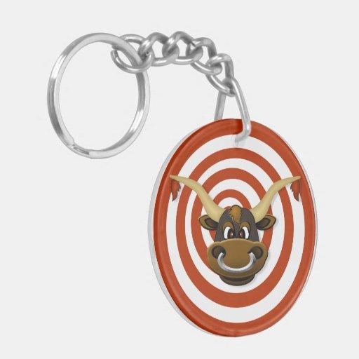 Bullseye Gun Lock Key Keeper Acrylic Keychain