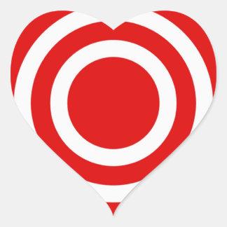 Bullseye Heart Sticker
