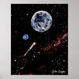 BULLSEYE! (large) (outer space art) ~ Poster