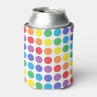 Bullseye Rainbow Can or Bottle Cooler