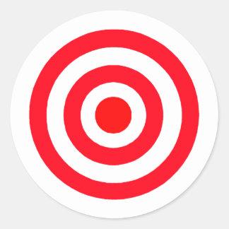 Bullseye Round Sticker