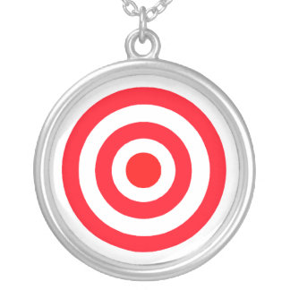 Bullseye Silver Plated Necklace