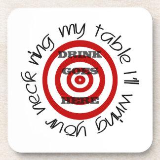 Bullseye Target with Warning Coasters