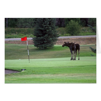 Bullwinkle plays a round of golf card