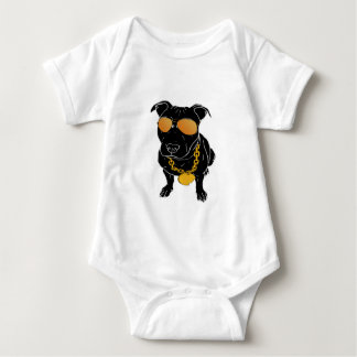 Bully breed design baby bodysuit