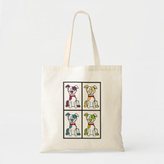 Bully Breed Drawing Tote Bag