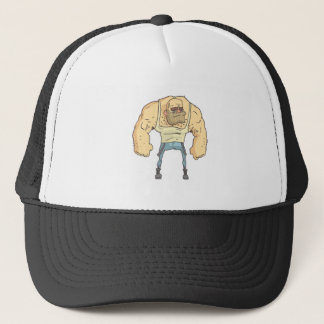 Bully Dangerous Criminal Outlined Comics Style Trucker Hat
