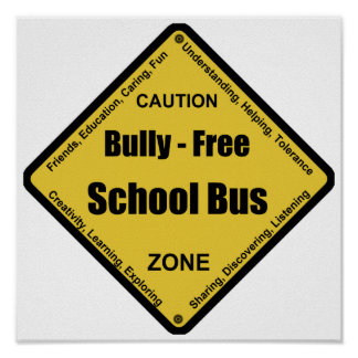 Bully - Free School Bus Poster