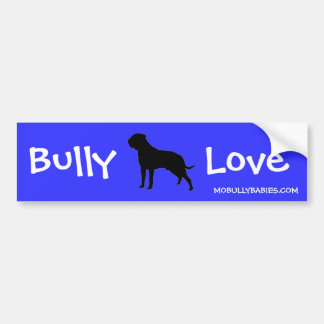 Bully Love Bullmastiff Bumper Sticker - blue