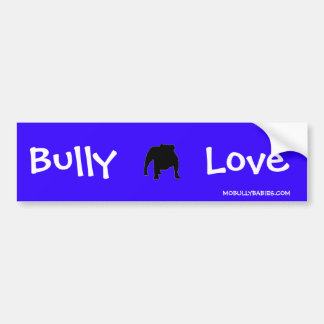 Bully Love Bumper Sticker Blue