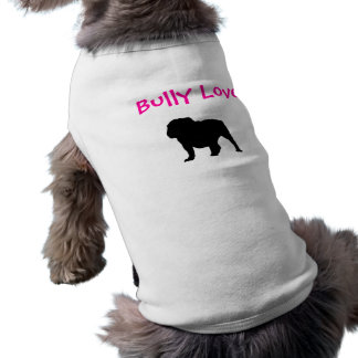 Bully Love, English Bulldog Sleeveless Dog Shirt