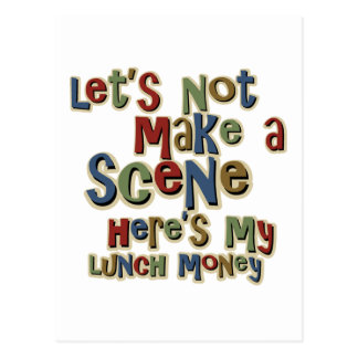 Bully Lunch Money Funny Postcard