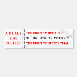 BULLY RIGHTS BUMPER STICKERS