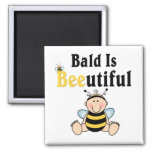 Bumble Baby Bee Bald is Beautiful Refrigerator Magnets