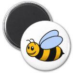 bumble bee 6 cm round magnet