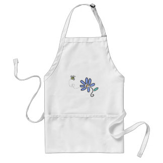 Bumble Bee and Blue Flower Standard Apron