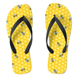 Bumble Bee and Honeycomb Pattern Thongs