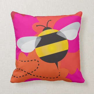 Bumble bee and spider pillow