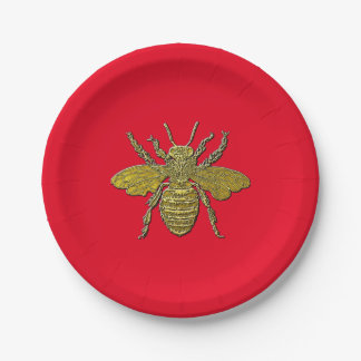 Bumble Bee and Your Color Paper Plate