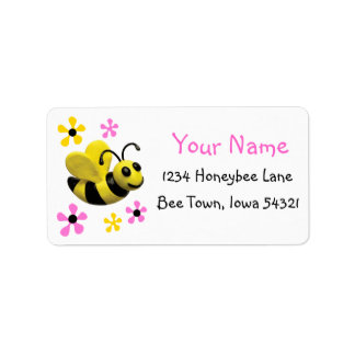Bumble Bee Baby Shower Address Label
