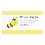 Bumble Bee Baby Shower, Diaper Raffle Tickets Pack Of Standard Business Cards