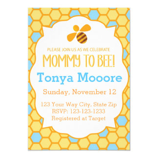 Bumble Bee Baby Shower Invitation (boy)