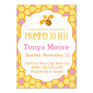 Bumble Bee Baby Shower Invitation (girl)