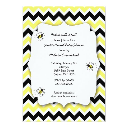 Bumble Bee Baby Shower invites / what will it bee