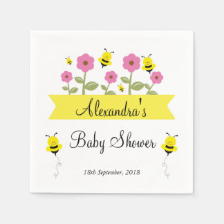 Bumble Bee Baby Shower Napkins Disposable Serviette