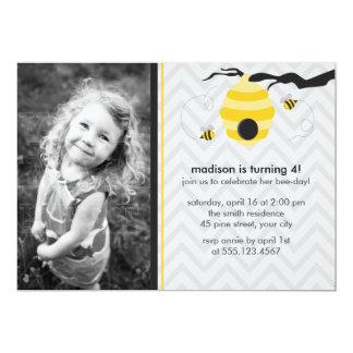 Bumble Bee Birthday Party 13 Cm X 18 Cm Invitation Card