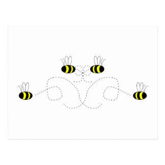 Bumble Bee Bow Postcard