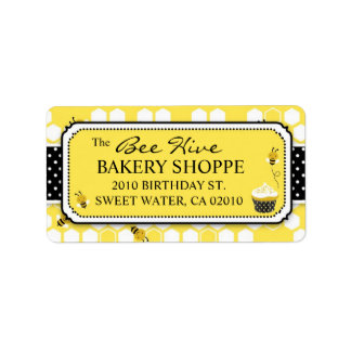 Bumble Bee Business Address Label
