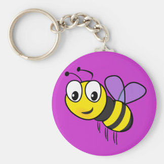 Bumble Bee, Buzz Basic Round Button Key Ring