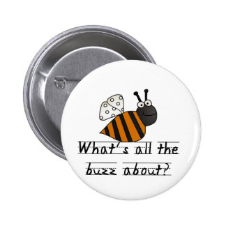 Bumble Bee Buzz Tshirts and Gifts 6 Cm Round Badge