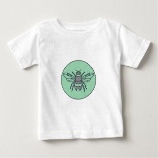 Bumble Bee Circle Mono Line Baby T-Shirt