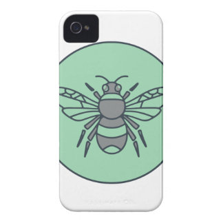 Bumble Bee Circle Mono Line Case-Mate iPhone 4 Case