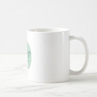 Bumble Bee Circle Mono Line Coffee Mug