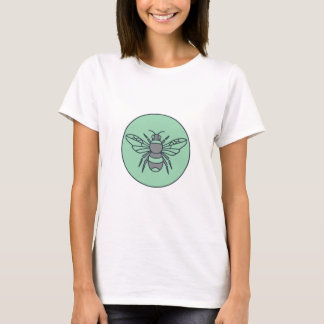 Bumble Bee Circle Mono Line T-Shirt