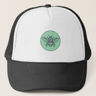 Bumble Bee Circle Mono Line Trucker Hat