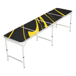 Bumble Bee Colors Beer Pong Table