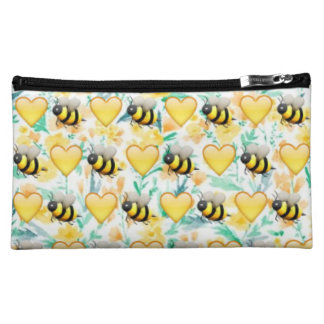 Bumble Bee Emoji Cosmetic Bag