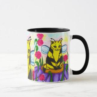 Bumble Bee Fairy Cat Fantasy Art Mug