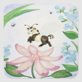 Bumble Bee Fantasy Horse Stickers