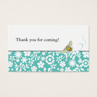 Bumble Bee Favor Tag or Business Card  |  Blue