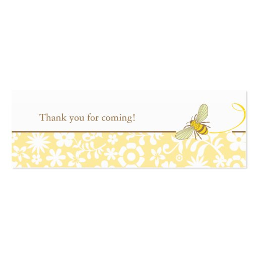 Bumble Bee Favour Tag Pack Of Skinny Business Cards