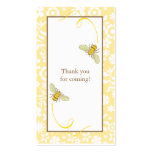 Bumble Bee Favour Tag Business Card Template