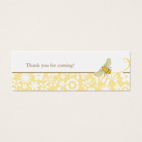 Bumble Bee Favour Tag Mini Business Card